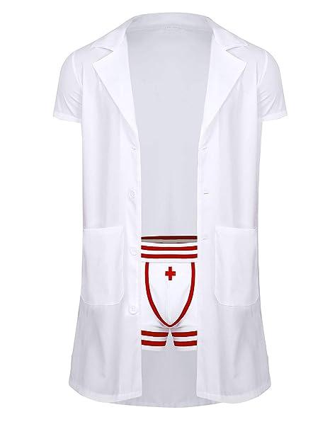 TiaoBug Disfraz de Doctor Médico Hombres Uniforme Enfermero ...