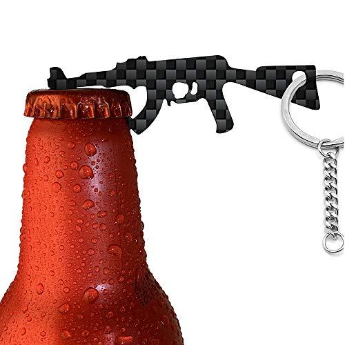 (CRMPro Carbon Fiber Bottle Opener, Ultralight Keychain Bottle Openers for Outdoor Campaign Bar Restaurant, Portable Wine Opener Best Gift for Men Soldier)
