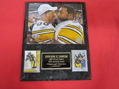 cea03370 Amazon.com: Jerome Bettis Hines Ward Pittsburgh Steelers 2 Card ...