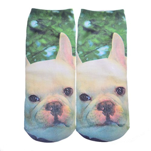 Womens 3D Printed Unisex Cotton Cartoon Socks (Colorful candy) - 1