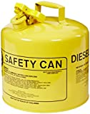 Eagle UI-50-SY Type I Metal Safety Can, Diesel, 12-1/2'' Width x 13-1/2'' Depth, 5 Gallon Capacity, Yellow