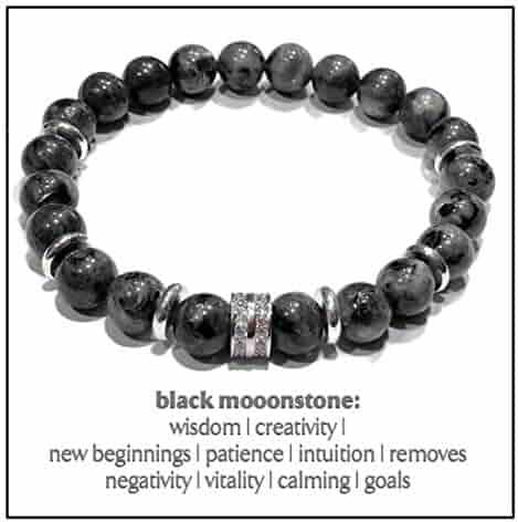 Beaded Meditation Spiritual Stretch Mantra Reiki Healing Energy Boho Charm Chakra Wrap Yoga Jewelry /& Gemstone Gifts Good Luck Evil Eye Bracelets Lucky Horseshoe Bracelets