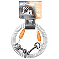 Deals on BV Pet Reflective Tie Out Cable 90 pound, 25 Feet