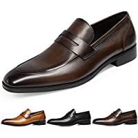GIFENNSE Men's Leather Loafers Shoes Mens Dress Shoes