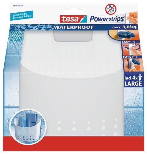tesa Duschkorb groß, wasserfest, selbstklebend, bis 3 kg belastbar, wieder ablösbar