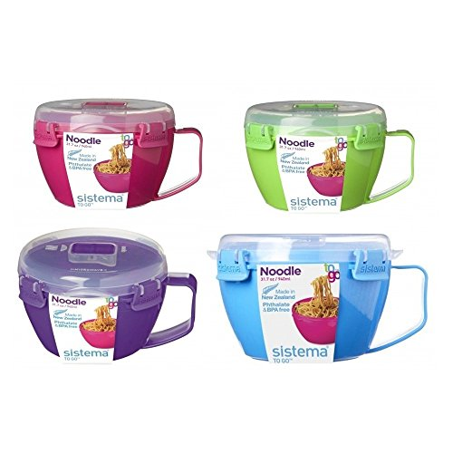 Sistema 21109 Microwave Cookware Noodle Bowl, 31.7 Ounce, Color may vary, Sold Individually.