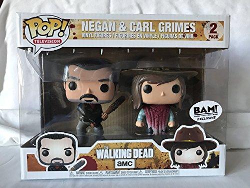Funko - Figura Pop elaborada en Vinilo,The Walking Dead, Pack Doble con Negan y Carl Grimes, 21534