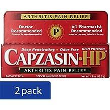 Capzasin-HP Arthritis Relief Topical Analgesic Cream, 1.5-Ounce Tubes (Pack of 2)