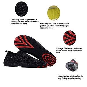 UNN Multifunctional Quick-Dry Barefoot Water Skin Shoes Flexible Aqua Socks For Beach Swim Surf Yoga Exercise Black 5.5-6
