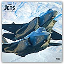 Jets 2019 12 x 12 Inch Monthly Square Wall Calendar, Airplane Aircraft Military Flight