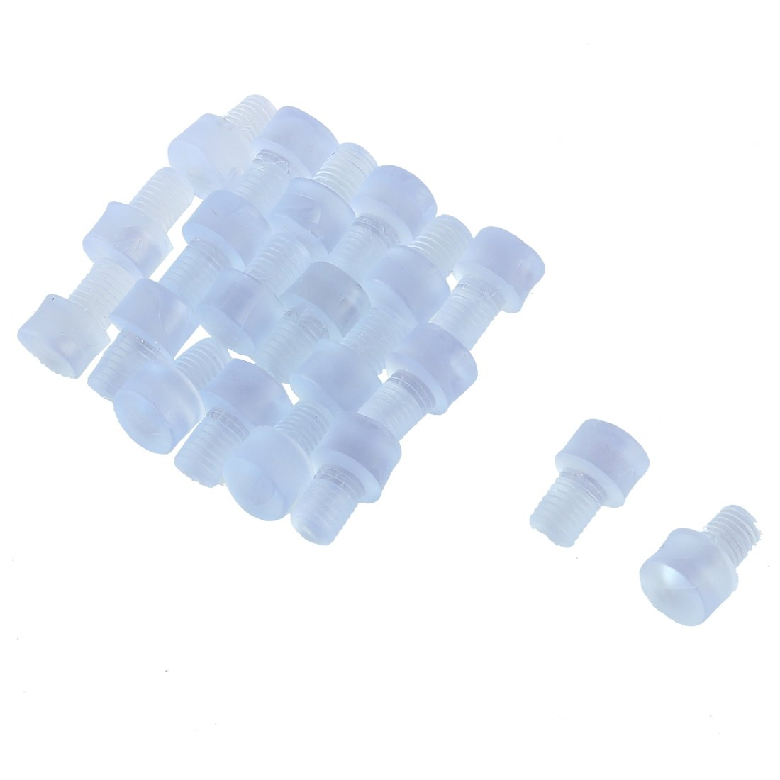 uxcell Rubber Household Furniture Cabinet Table Soft Stem Bumpers 6mm Dia 20pcs Clear a16071200ux0368