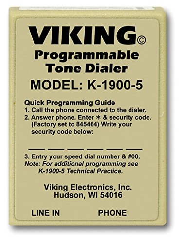 Touch Tone Dialer (K-1900-5 Touch Tone Hot-Line Dialer Landline Telephone Accessory)