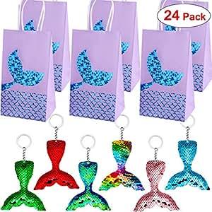 Amazon.com: Danirora Mermaid Favores de fiesta, [24 unidades ...