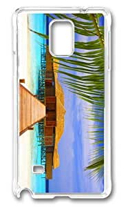 MOKSHOP Adorable beach spa Hard Case Protective Shell Cell Phone Cover For Samsung Galaxy Note 4 - PC Transparent by icecream design