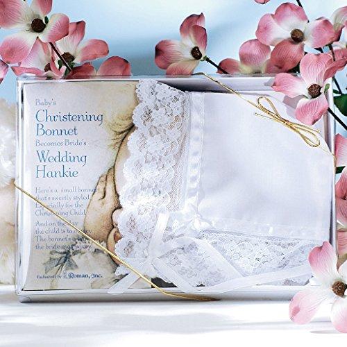 Christening Bonnet - Deluxe Baby Christening Bonnet / Hanky For Wedding
