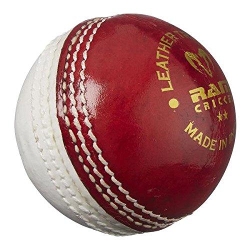 RAM Cricket Leder Training Ball–2016Spec–Rot/Weiß–5.5oz 3045-RW-S-2016-FBA
