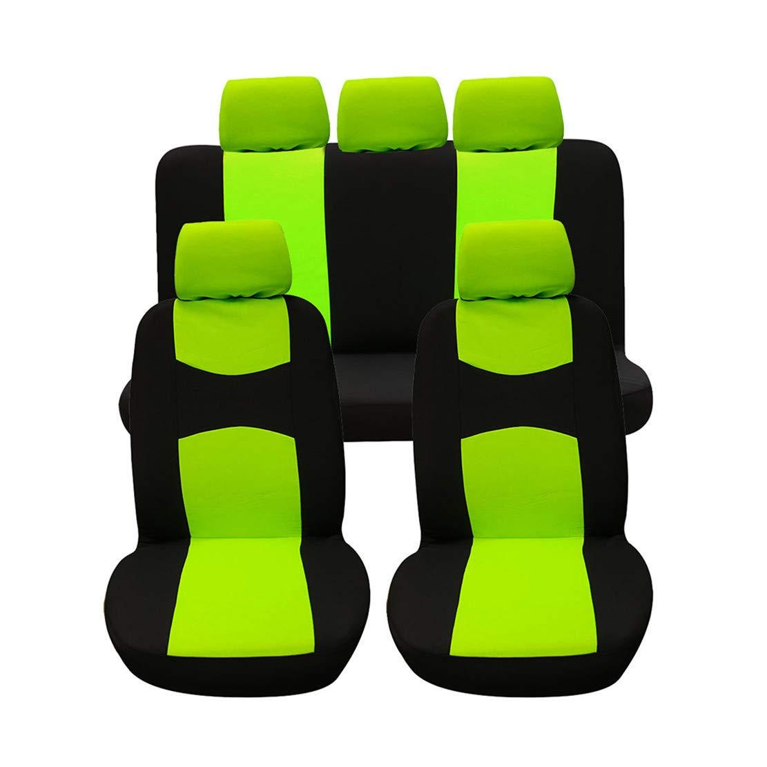 GODGETS Copri-sedili Auto Universale Set Completo//Set Copri-Sedile Universali per Anteriori e Posteriori//Accessori Auto Interno,Nero Giallo,2 Seater Anteriore