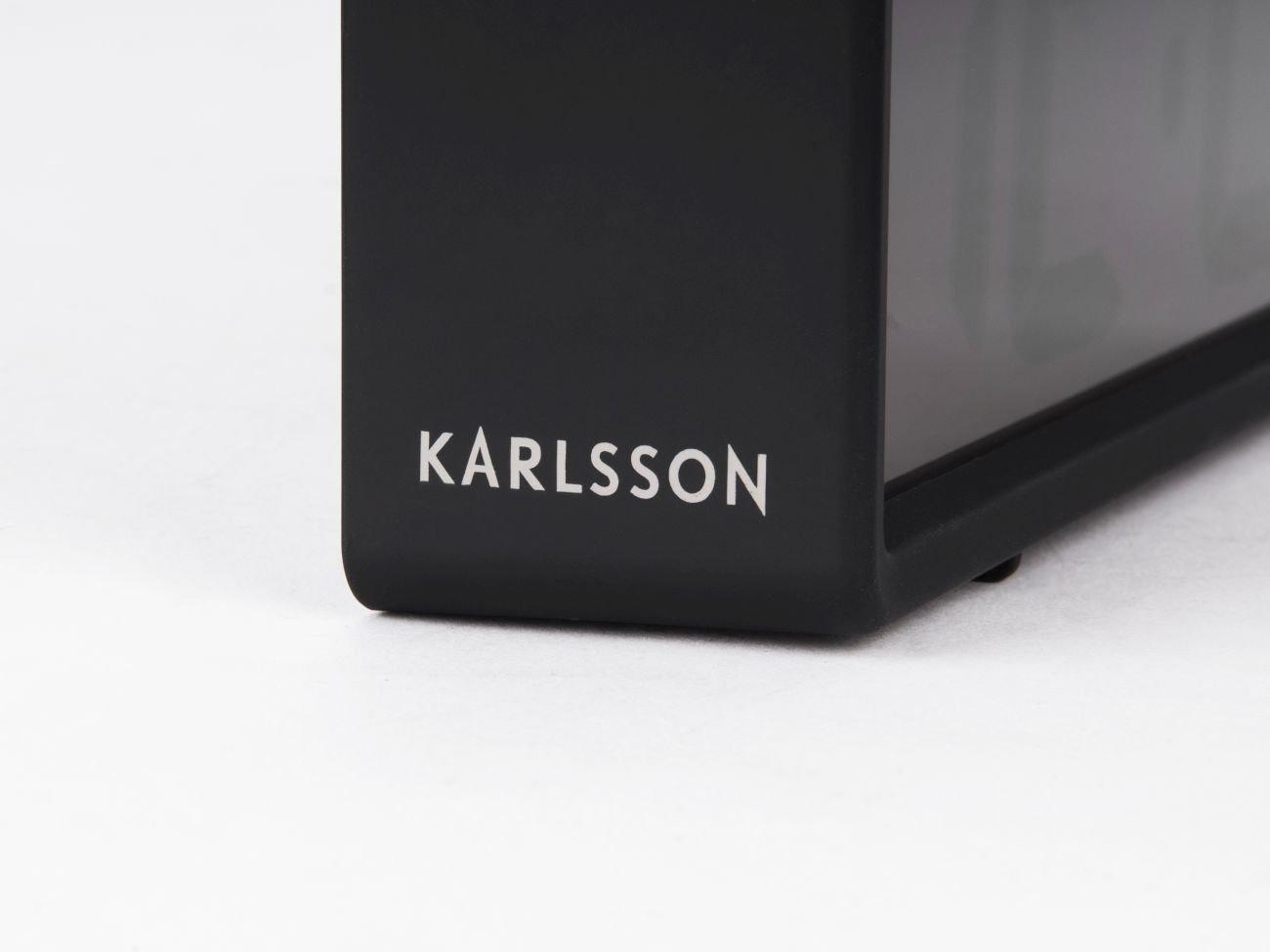 Colore: Nero Orologio da Tavolo in plastica Karlsson Coy Taglia Unica
