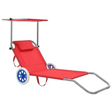 sedia sdraio con ruote amazon