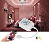 Ciecoo 12-24V Wireless Bluetooth 4.0 RGB Remote Controller for RGB LED Strip Light/Bulb Smartphone for IOS/ Android APP Control with Music/Timing Function