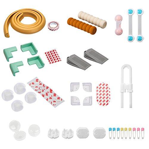 AGPTek BY14A 11 in 1 Baby Schutz Set Anti-Crash Kantenschutz Steckdosensicherung Schrankschloss usw. für Kleinkinder