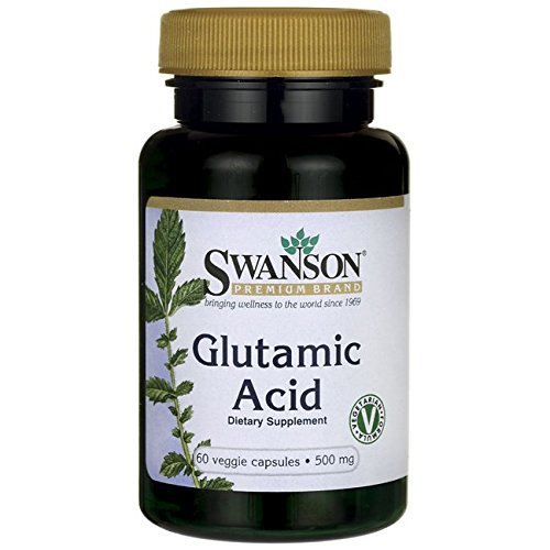 Swanson Amino Acid Glutamic Acid 500 Milligrams 60 Veg Capsules