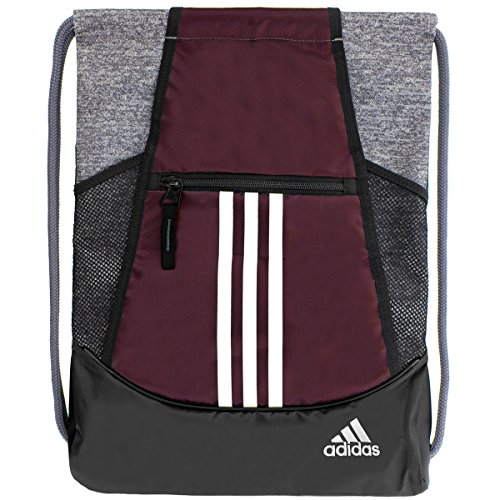 adidas Alliance II Sack Pack, One Size, Dark Burgundy/Onix Jersey/Black/White by adidas