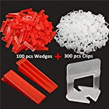 New 400Pcs Tile Leveling Plastic Spacers Tiling Clips Wedges Tools