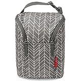 #4: Skip Hop Grab & Go Double Bottle Bag, Grey Feather