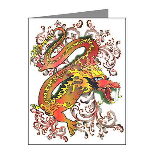 Price comparison product image X-Large Greeting Card Fire Dragon