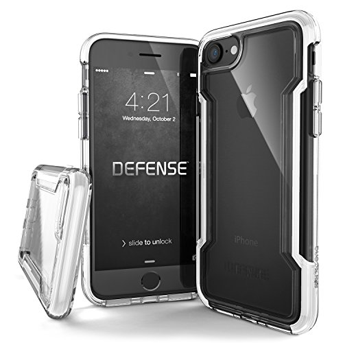 X-Doria iPhone 8 & iPhone 7 Case, Defense Clear Series - Military Grade Drop Protection, Clear Protective Case for iPhone 8 & 7 (White)