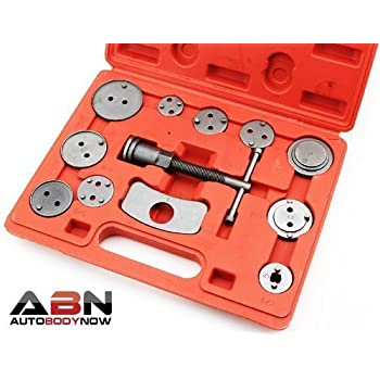ABN Universal Front and Rear Caliper Disc Brake Screw-In Wind Back Rewind and Piston Compression 12-Piece Tool Kit Set