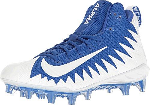 Nike Men's Alpha Menace Pro Mid Football Cleat(12.5 D(M) US, Game Royal/White) (Alpha Pro Cleats)