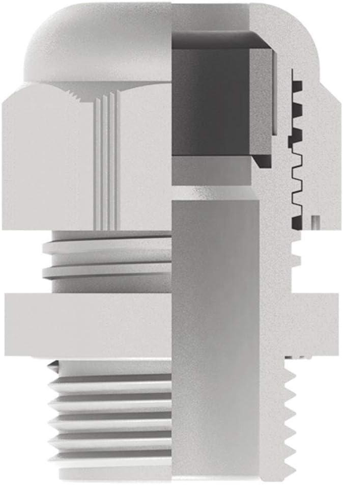 Kabeldurchf/ührung IP68 mit Mutter M25 grau