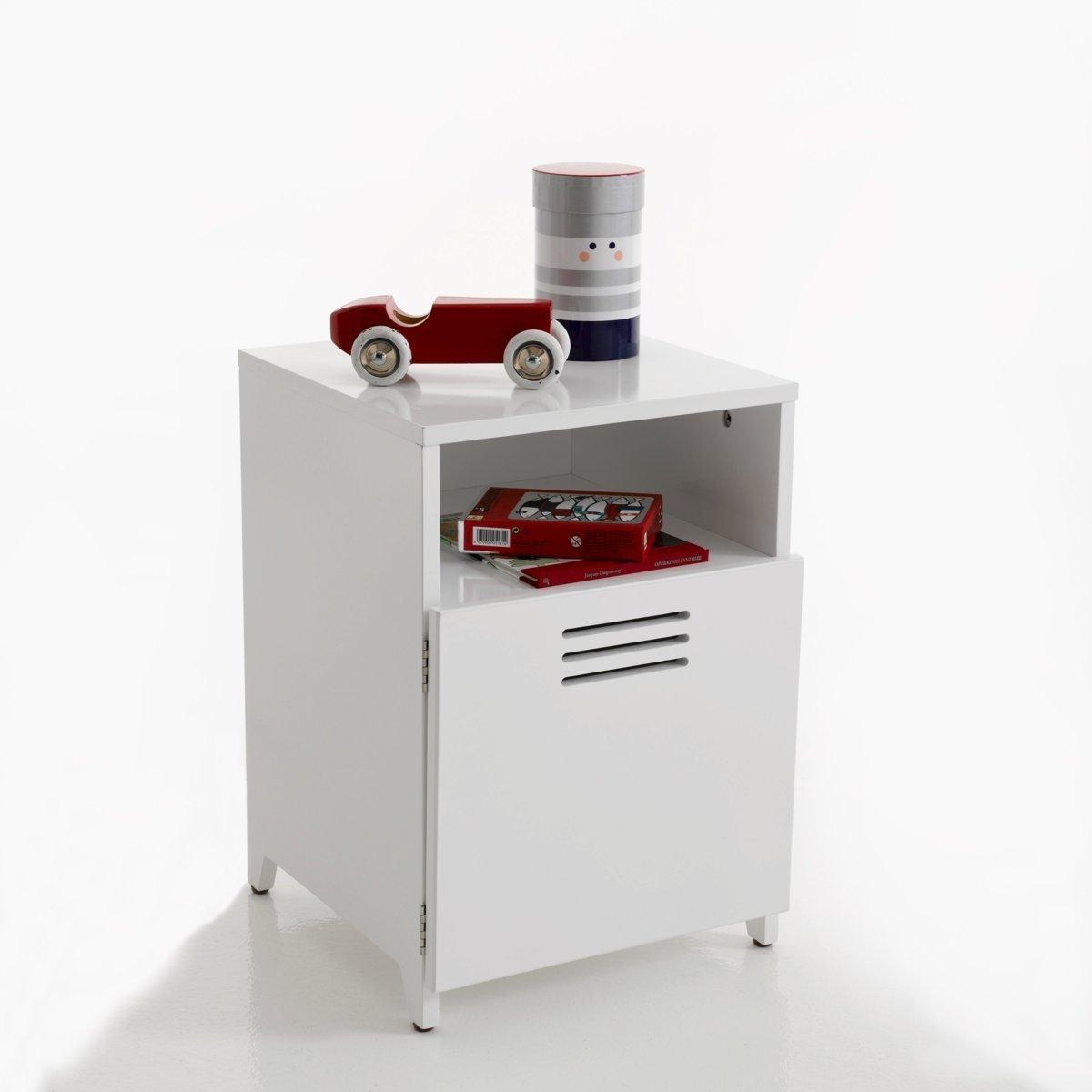 La Redoute Interieurs Hiba 1-Door Bedside Cabinet White Size One Size