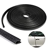 TRIXES 5M Car Guard-U Shaped Roll- Protective Rubber Door Strip- Easy Install- Colour Black