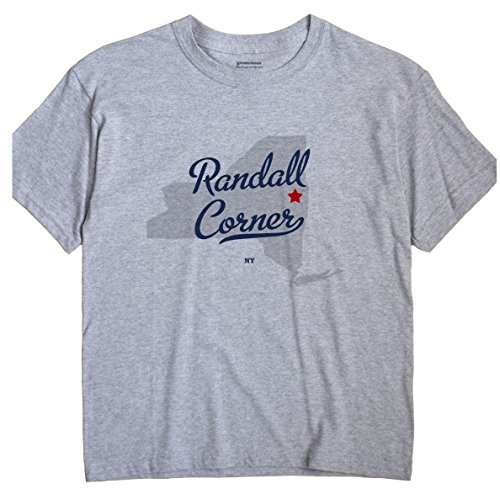 GreatCitees Randall Corner New York NY MAP Unisex Souvenir T -