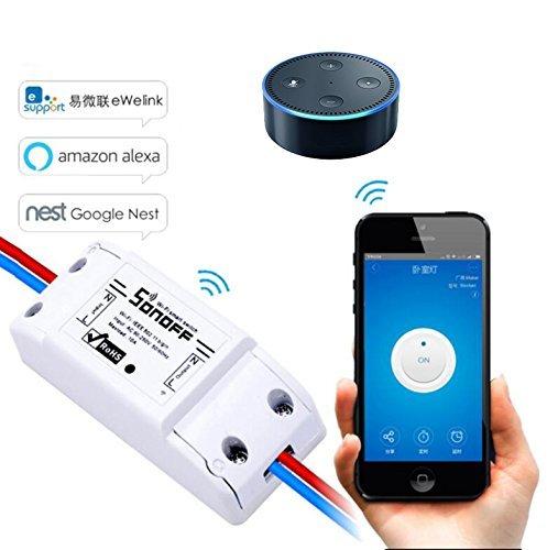 EVILTO- Sonoff Smart Switch, Wireless Switch Homekit, Smart-schalter Steckdose Home App Controller (1pcs)