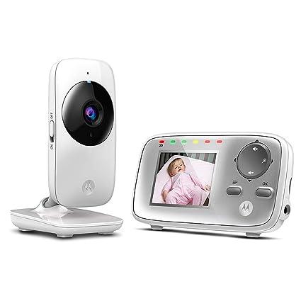 """Motorola MBP 482 - Vigilabebés vídeo con pantalla LCD a color de 2.4"""", modo"""
