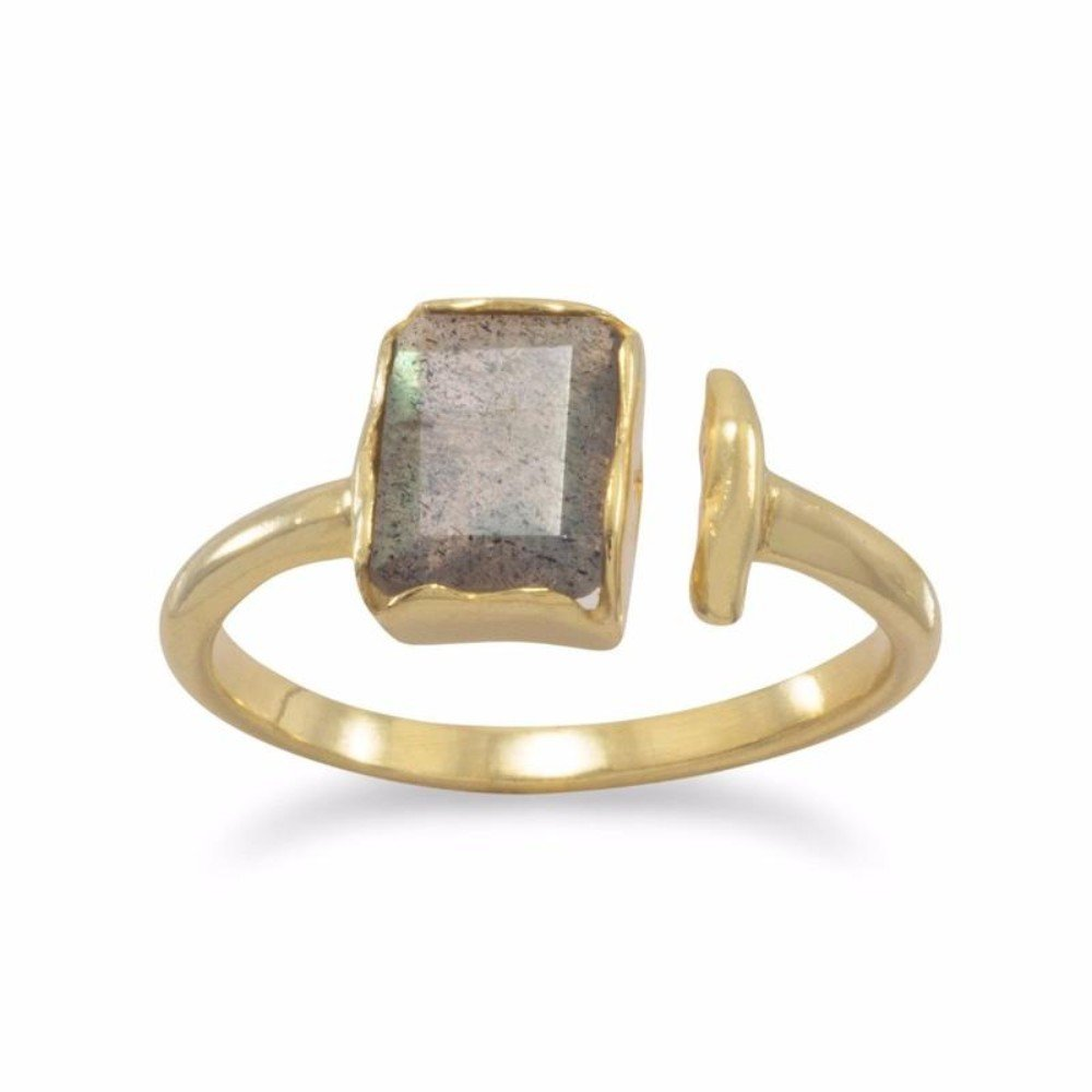 DV Jewels Rectangular Labradorite Ring