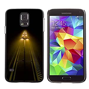 Paccase / SLIM PC / Aliminium Casa Carcasa Funda Case Cover - Street Lights Night Yellow Road - Samsung Galaxy S5 SM-G900