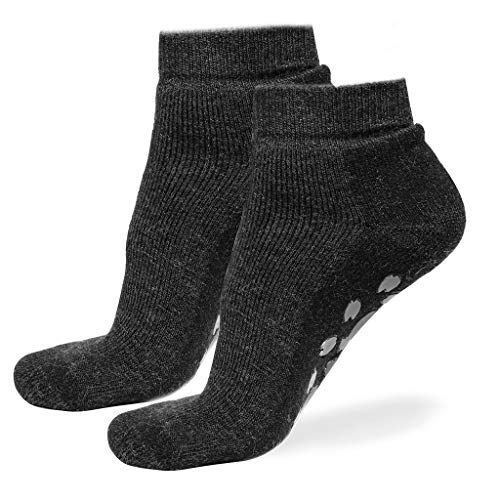 Alpaca Wool Quarter Ankle Socks 2Pairs for Men & Women - Comfortable Warm & Thick for Winter BLC9