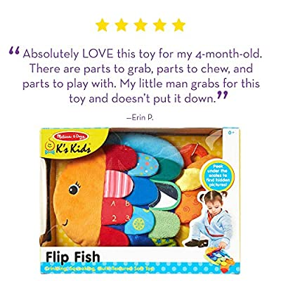 Melissa & Doug Flip Fish Baby Toy (Developmental Toy, Squeaker Tail, Shatterproof Mirror, Washable Fabrics, Great Gift for Girls and Boys - Best for Babies and Toddlers, All Ages): Melissa & Doug: Toys & Games