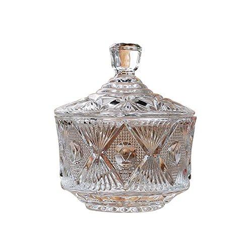 - Jomop Candy Jar Sugar Bowl Glassware (16 oz)
