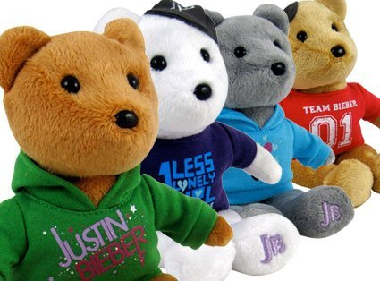 Justin Bieber Complete Teddy Bear Collection (Justin Bieber Bear)