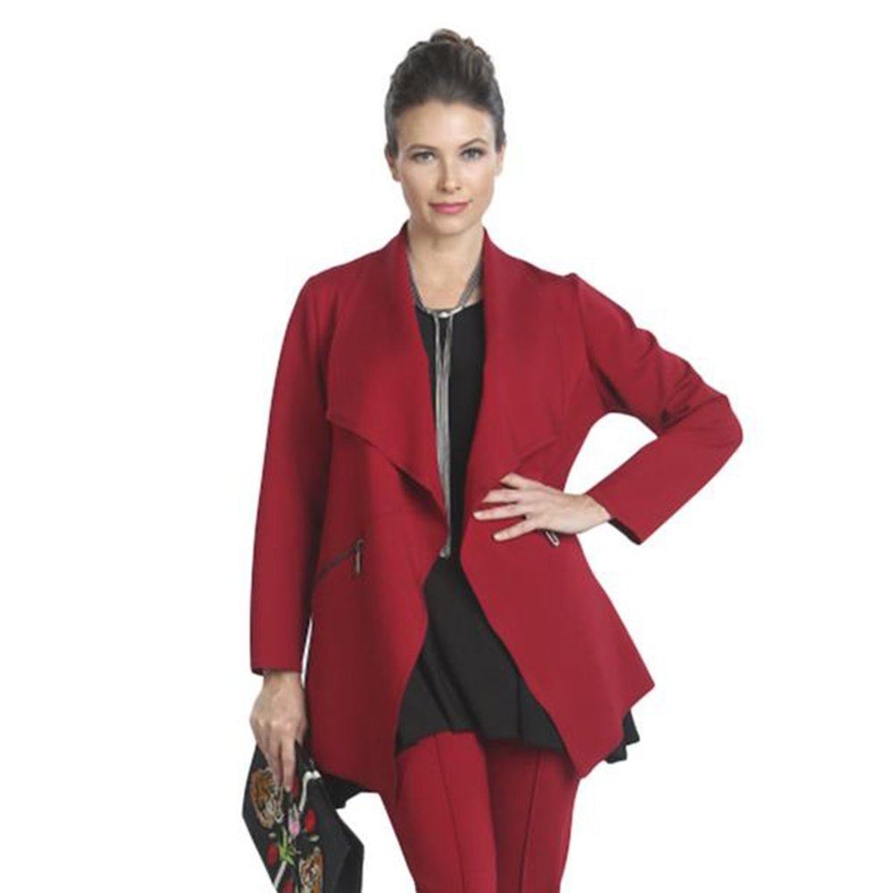 IC Collection Cutaway Cardigan In Red 5143J