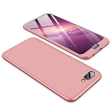 JMGoodstore Funda Huawei Honor 10,Carcasa Huawei Honor 10,Funda 360 Grados Integral para Ambas Caras+Cristal Templado,[360°] 3 in 1 Slim Fit ...