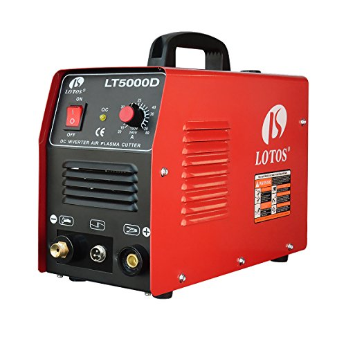 "Lotos LT5000D Plasma Cutter 50Amps Dual Voltage Compact Metal Cutter 110/220V AC 1/2"" Clean Cut"