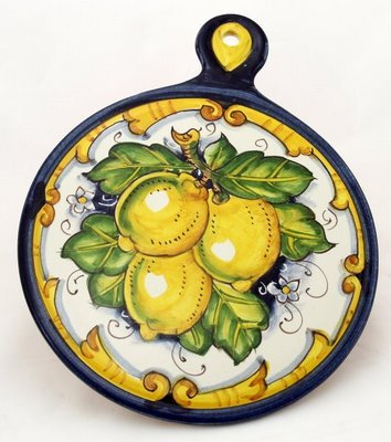 TOSCANA: Old Fashion Round Trivet - Dec. Limone Barocco [#LB54-TOS] by Toscana Collection