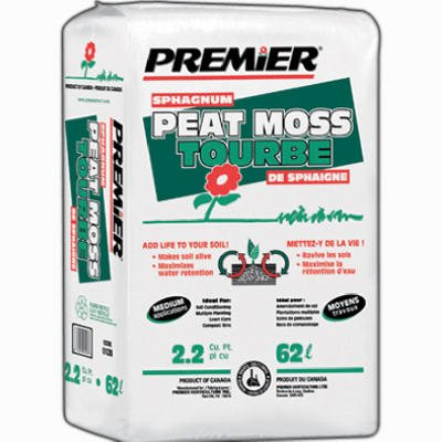 PREMIER HORTICULTURE 0128P 2.2Cu Ft Sphag Peat Moss